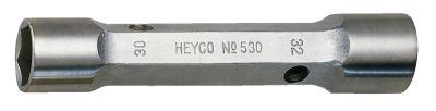 Wrench, Socket Double-Ended #530, Size 10 x 11mm, Chrome Finish, HEYCO (00530101180)