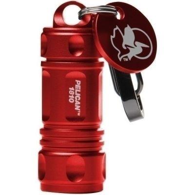 Flashlight Keychain LED 1810, Red, Lumens 16, Cells Quantity - 4 Pcs - LR 41, PELICAN (018100-0100-170)