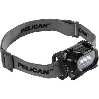 Headlight LED 2745, Black, Ex-proof, Lumen 33/17, 3-AAA, Class I, Div 1/IECEx ia, PELICAN (027450-0100-110)