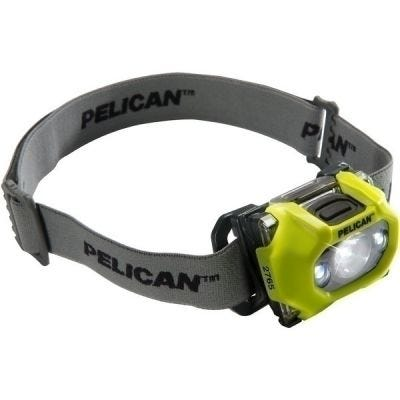 Headlight LED 3-AA Cells, 2765, Yellow, Lumens 105/104/65/33, PELICAN (027650-0100-245)