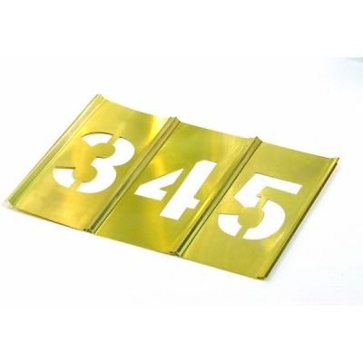 Set, Brass Stencil Number 2'' x  15 Pcs Single Number, HANSON (10011)