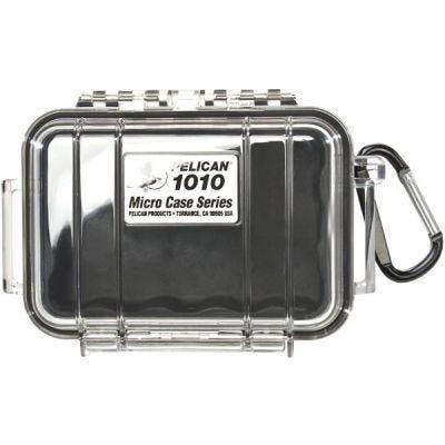 Case Micro 1010, Black, Clear, 5.88'' x 4.06'' x 2.12'' (14.9 x 10.3 x 5.4 cm), IP67, PELICAN (1010-025-100)