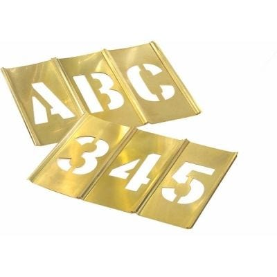 Set, Brass Stencil Letter & Number 1/2'' x 77 Pcs, HANSON (10106)