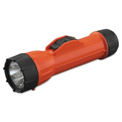 Brightstar, Flashlight Industrial Incandescent Handheld, Explosion Proof 3D Cell Orange/Black (2217) (2224), Body Material: Plastic