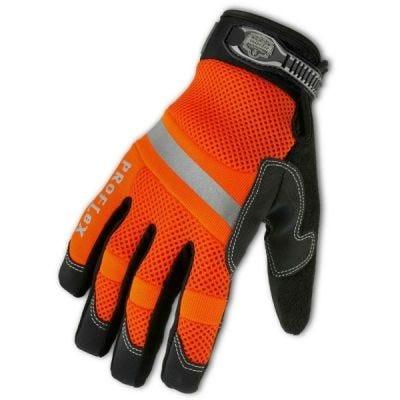 Glove, ProFlex #872 Hi-Vis Mesh Trades Series Glove Size: M Color: Hi-Vis Orange, ERGODYNE (16313)