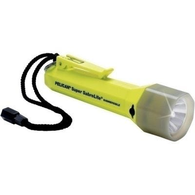Flashlight, Sabrelite LED, PL Shroud, 2000PL Yellow, Intrinsically Safe, Lumens 53,  3 C Cells, Class I,Div 1,Class II,Div 2,IECEx ib, PELICAN (2000-010-247)