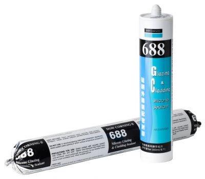 Dow Corning 688 Glazing & Cladding Silicon Sealant 310gm, Black, cartridge