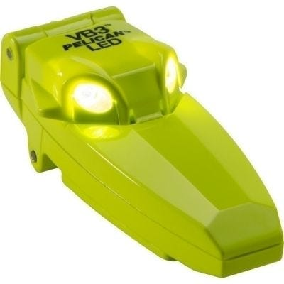 Flashlight, LED 2220 VB3 Yellow, Lumens 9, 2 CR2032 Cells, Intrinsically Safe, Lumens 9, Class I, Div 1, IECE ib, PELICAN (2220-010-245)
