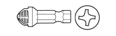 Screwdriver Insert Bits, Torq Set Head Power Bit, ACR, 1/4'' Hex #T1/4 x 1.1/4'' OAL, PAN AMERICAN TOOL (28-761ACR)