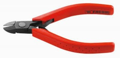 Plier, Diagonal Cutter Axial Cut Matt Burnish 110mm, FACOM (405.1)