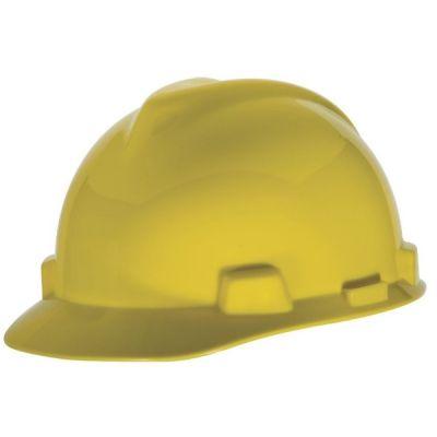 Hard Hat, Slotted, Standard Suspension, Yellow, MSA (463944)
