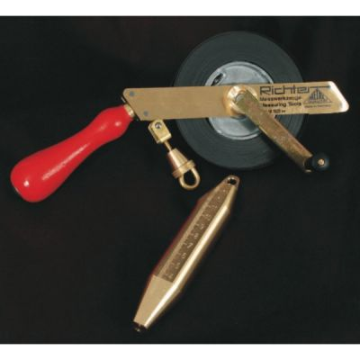 Tape Measure, IPM Approved Oil Gauging Tape, 50M/165fts, Stainless Steel, With B2 Brass Bob, RICHTER (465MS-IPM/50)