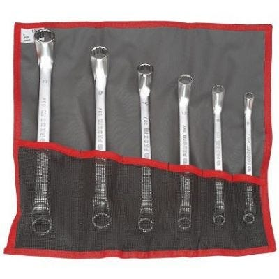 Set, Wrench Offset Ring 12 Point 6 Pcs, 1/4'' - 15/16'', Chrome Finish, FACOM (55A.JU6AT)