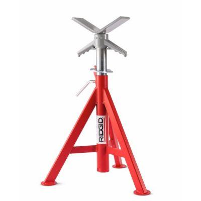 Pipe Stand, Vise V-Head High # VJ99 Max Pipe Cap 12'' Height 28''-53'' / 71-137 CM, RIDGID (56662)