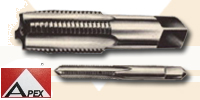 Hand Tap, Carbon Steel, Straight Flute Hand, BSW, 1.1/2'', APEX (74600184)
