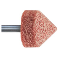 Stone Mounted Point, Aluminium Oxide, Hardness O, Series A, 29 x 29mm (D x T), Grit size: 30mm, Shank 6mm, PFERD (A13)
