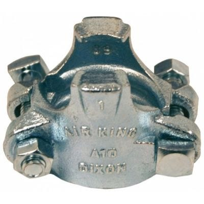 """Clamp Air King, Size 1/2'' For Hose OD From 1"""" (25.4mm) to 1.12/64"""" (30.2mm) Torque 6 ft. lbs., Plated Iron, DIXON (A4)"""