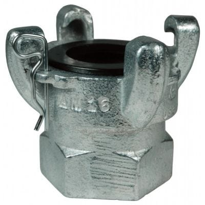 Coupling Air King 4 Lugs Female NPT Ends, Quick -Acting Use with Boss clamps, Size 2'', Pressure Rating: 150 PSI (1 MPa), Iron, DIXON (AM28)