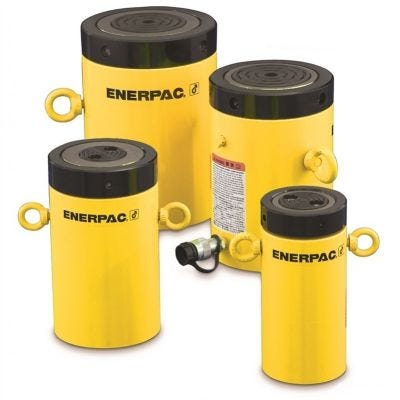 CLL Series Single Acting Lock Nut Cylinders, Capacity: 50 - 1,000 Tons, Stroke: 1.97 - 11.81 In., Max. Operating Pressure: 10,000 PSI, ENERPAC (CLL504)