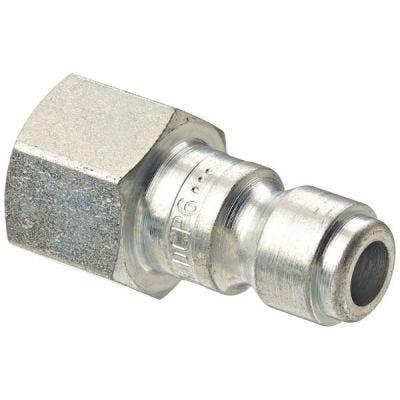 Plug interchange quick connect Female Pipe Thread 3/8'' NPT, Body Size: 3/8'', Rated: 300 PSI, Temperature Range: -40 Deg F to 250 Deg F, Flow: 70 CFM at 100 PSI, Steel, DIXON (DCP6)