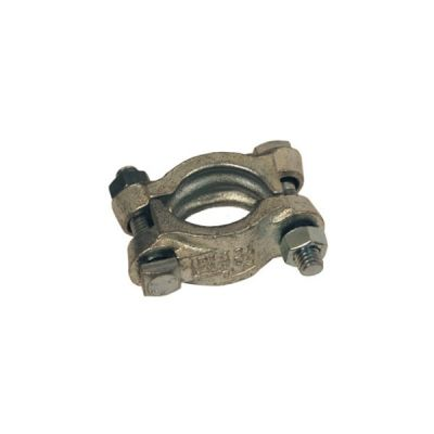 """Clamps Double Bolt Without Saddles For Hose OD From 1.40/64"""" (41.3mm) to 1.52/64"""" (46.0mm), Torque 40 ft. lbs., Plated Iron, DIXON (DL14)"""