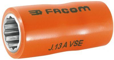 VDE, 3/8'' Drive Socket 1000V Insulated 12 Point 14mm, FACOM (J.14AVSE)