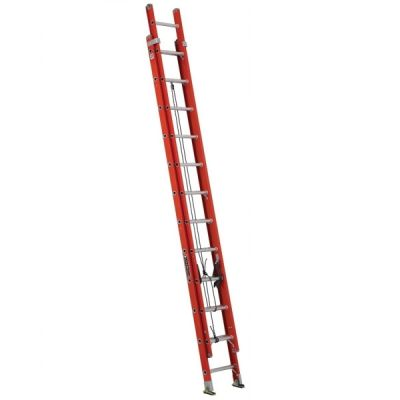 Ladder FE3200 Series, Multi Section Extension Ladder, Total Length: 24', Length Each Section: 12', Max Extended Length: 21', Load Capacity: 300lbs, fiberglass, LOUISVILLE (FE3224)