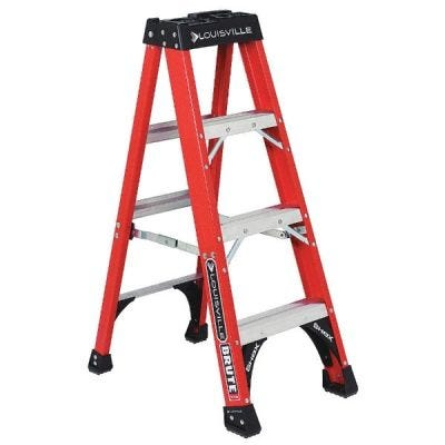 Ladder FS1400HD Series, 4 steps ladder, Open Width: 19.9/16'', Open Depth: 28.15/16'', Load Capacity: 375lbs, fiberglass, LOUISVILLE (FS1404HD)