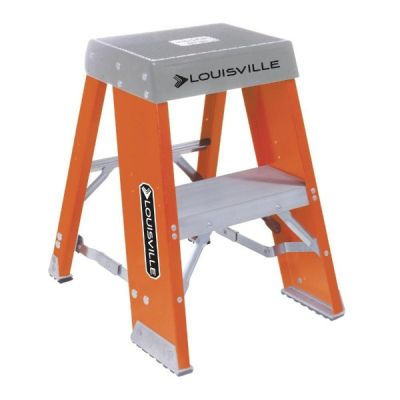 Ladder FY8000 Series, Industrial Step Stool, 2 steps ladder, Open Width: 17.3/4'', Open Depth: 20.9/16'', Load Capacity: 300lbs, fiberglass, LOUISVILLE (FY8002)