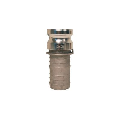 Adapter, Global Cam & Groove Type E Hose Shank x Male Adapter, Size 3/4'', Maximum Operating Pressure 250 PSI, ASTMC38000 Forged Brass, DIXON (G75-E-BR)