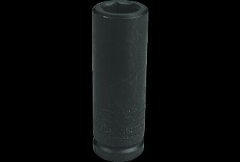 3/4'' Drive Socket Deep Thin Wall Impact 6 Point, 1.3/8'' AF, 3.1/4'' OAL, steel black finish, PROTO (J07522-LT)
