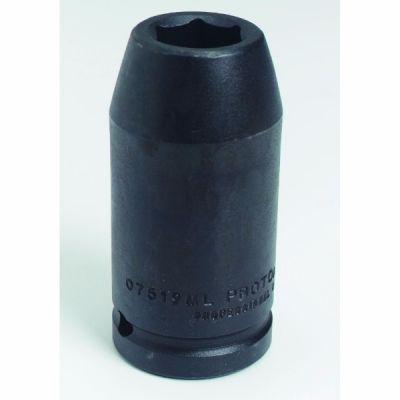 3/4'' Drive Socket Deep Impact 6 Point, 19 mm AF, 3.1/4'' OAL, steel black finish, PROTO (J07519ML)