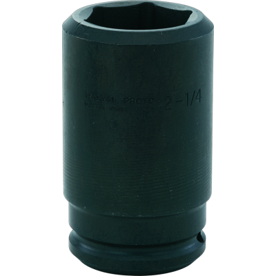 1.1/2'' Drive Socket Deep Impact 6 Point, 1.7/16'' AF, 5.3/4'' OAL, steel black finish, PROTO (J15023L)