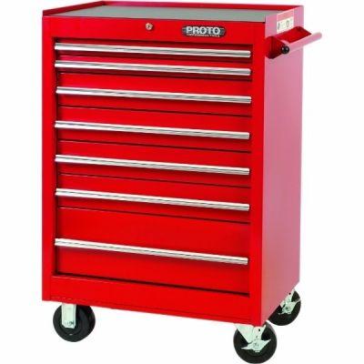 Storage Cabinet Roll LxHxD, 27'' x 42'' x 18'', 7 Drawers, Red, PROTO (J442742-7RD)