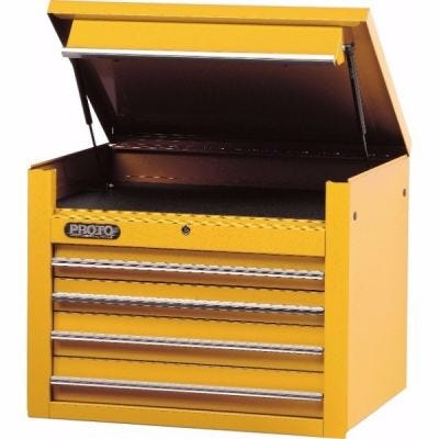 Storage Chest Top LxHxD, 34'' x 27' x 25'', 4 Drawers, 1 Compartment, Yellow, PROTO (J453427-4YL)