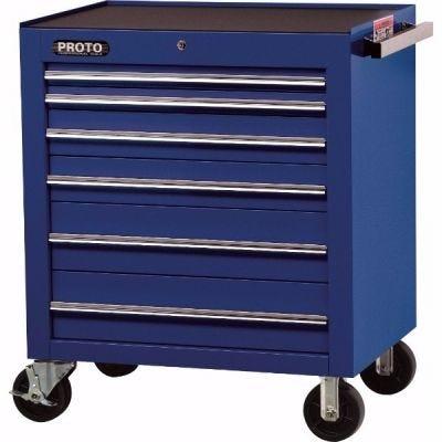 Storage Cabinet Roll LxHxD, 34'' x 41'' x 25'', 6 Drawers, Blue, PROTO (J453441-6BL)