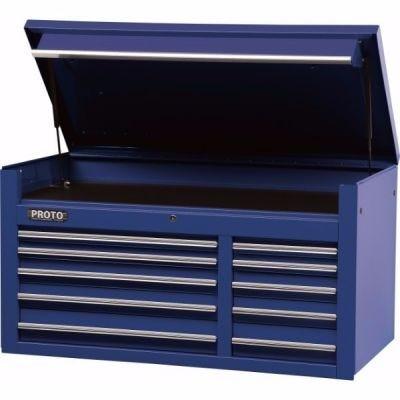 Storage Chest Top LxHxD, 50.1/2'' x 27' x 25'', 10 Drawers, 1 Compartment, Blue, PROTO (J455027-10BL)