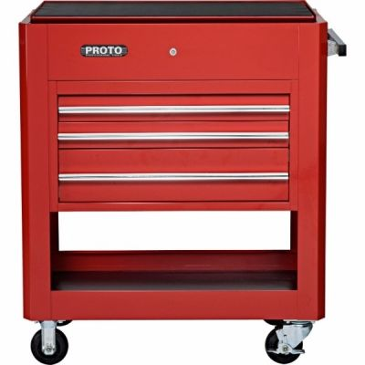 Storage Utility Cart Heavy Duty LxHxD, 39.1/2'' x 46'' x 23'', 3 Drawers, 1 Compartment, Red, PROTO (J459000-3RD)