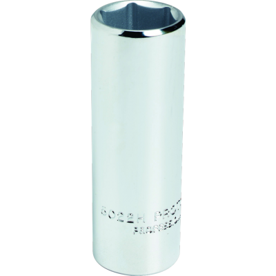 3/8'' Drive Socket Deep 6 Point 9/16'' AF, 2.1/8'' OAL, steel chrome finish, PROTO (J5018H)
