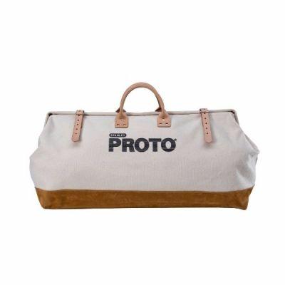 Storage Bag Canvas LxD 27'' x 17'', Heavy Duty Reinforced With Leather Bottom, PROTO (J95327)