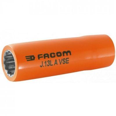 VDE, 3/8'' Drive Socket Deep, 1000V Insulated 12 Point 16mm, FACOM (J.16LAVSE)