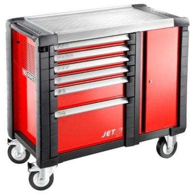 Mobile Workbench JET.M3 6 Drawers Red – 3 Modules Per Drawer, FACOM (JET.T6M3)