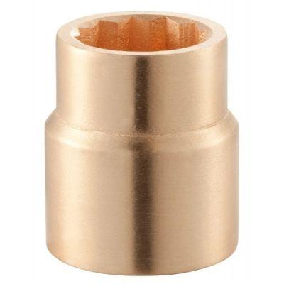 1'' Drive Socket Standard Non - Spark 12 Point Inch 1.1/8'', Anti Magnetic Copper Beryllium Alloy, FACOM (M.1P1-8SR)