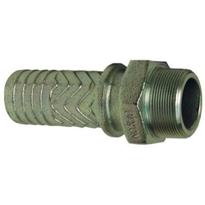 Stems Male Boss, Male Thread NPT Size 4'',Hose Shank Size, 4'', Plated Iron