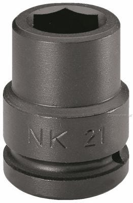 3/4'' Drive Socket Impact Inch 6 Point 3/4'', AF, Steel Black Finish, FACOM (NK.3-4A)