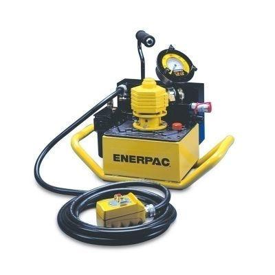 PTA Series Compact Pneumatic Torque Wrench Pump, Reservoir Capacity: 0.5 Gal., Max. Operating Pressure: 10,000 & 11,600 PSI, ENERPAC (PTA1404)