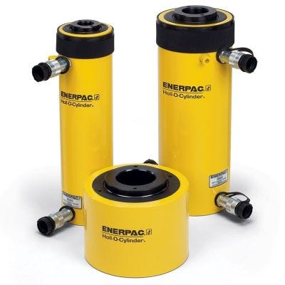 RRH Series Double Actiing, Hollow Plunger Cylinders, Capacity: 30 - 150 Tons, Stroke: 1.50 - 10.13 In., Max. Operating Pressure: PSI, ENERPAC (RRH606)
