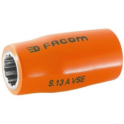 VDE, 1/2'' Drive Socket 1000V Insulated 12 Point 17mm, FACOM (S.17AVSE)