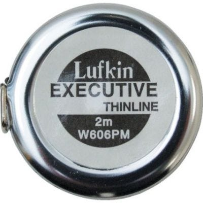Tape Measure Pocket Executive Diameter Yellow Clad 6mm x 2m, grad. 1mm, Blade Style: A20